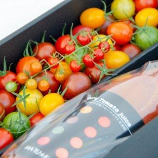 ジュースとトマトのセット