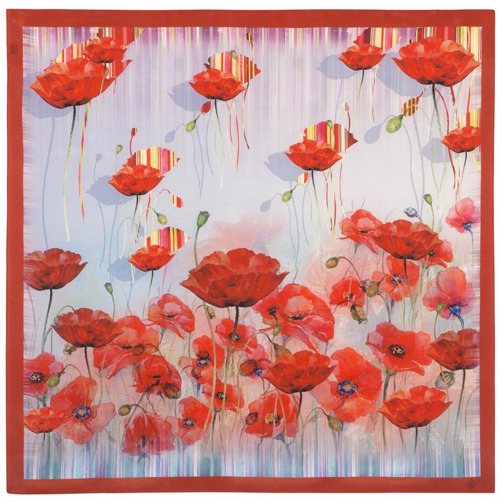 シルクスカーフ 89 Poppy Field スカーレット 商品詳細