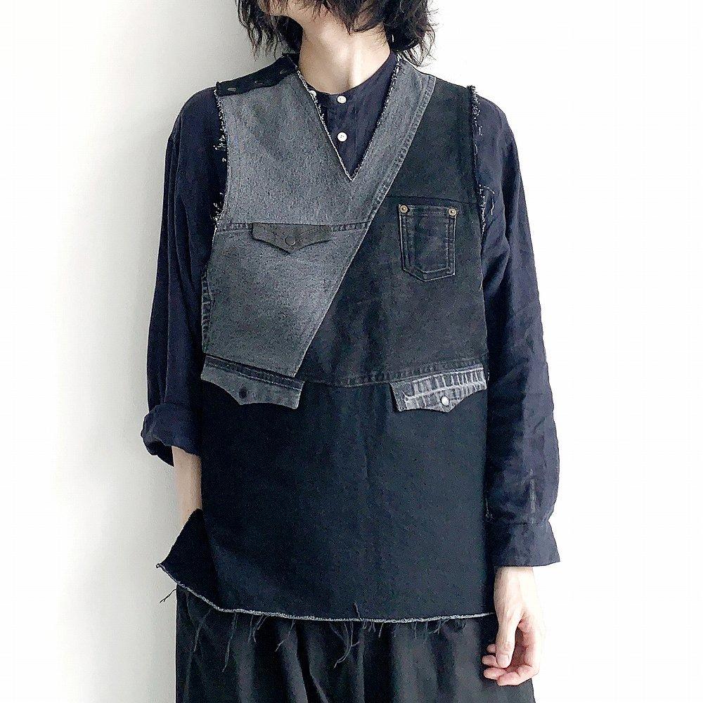 made by filum 再構築ベスト sus4-saikoutikuvest  black size:2