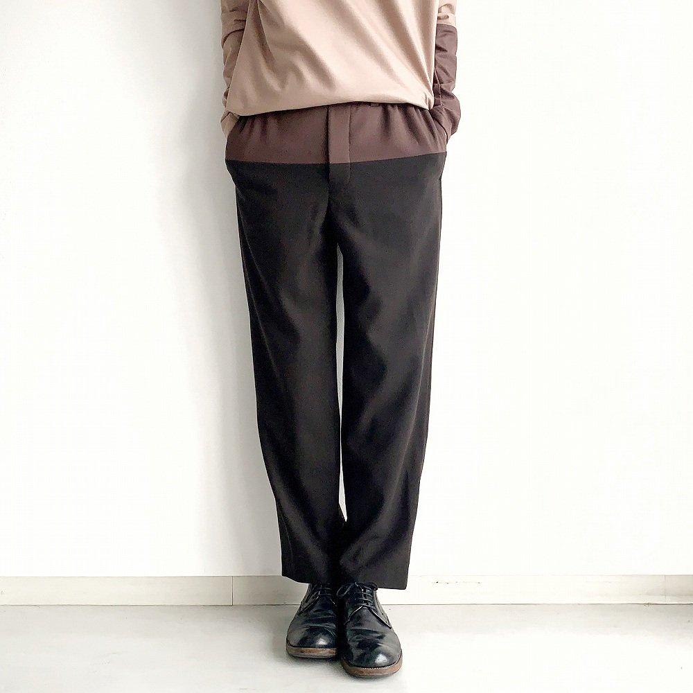 ethosens バイカラーパンツ  sus4-e219-703 color:B(dark brown) size:2