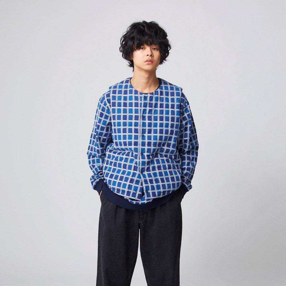 kuon 吉野格子ベスト sus4-1902-vt01 color:C(blue-navy) size:L