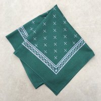 lateuk original BANDANA GREEN&WHITE