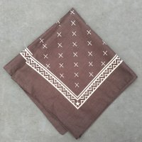 lateuk original BANDANA BROWN&WHITE