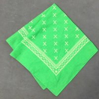 lateuk original BANDANA LIGHTGREEN&WHITE