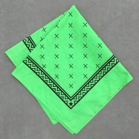 lateuk original BANDANA LIGHTGREEN&BLACK