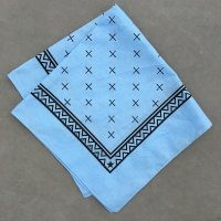 lateuk original BANDANA LIGHTBLUE&BLACK