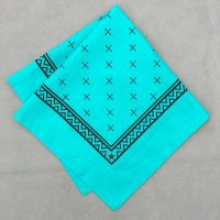 lateuk original BANDANA EMERALD GREEN&BLACK