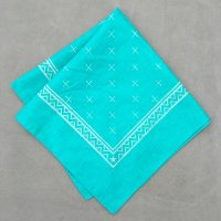lateuk original BANDANA EMERALD GREEN&WHITE