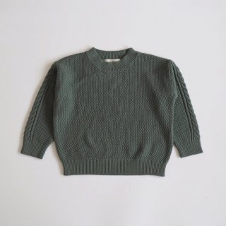 <img class='new_mark_img1' src='//img.shop-pro.jp/img/new/icons14.gif' style='border:none;display:inline;margin:0px;padding:0px;width:auto;' />moss stitch sweater / sage green / eLfinFolk