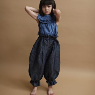 <img class='new_mark_img1' src='https://img.shop-pro.jp/img/new/icons20.gif' style='border:none;display:inline;margin:0px;padding:0px;width:auto;' />【40%off】 long pants with suspenders / linen denim / folkmade