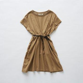 <img class='new_mark_img1' src='https://img.shop-pro.jp/img/new/icons41.gif' style='border:none;display:inline;margin:0px;padding:0px;width:auto;' />【50%off】eLfinFolk<br>waist gather dress<br>camel(90,100,110)