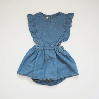 <img class='new_mark_img1' src='//img.shop-pro.jp/img/new/icons20.gif' style='border:none;display:inline;margin:0px;padding:0px;width:auto;' />【40%off】 light denim baby body dress / denim / tocoto vintage