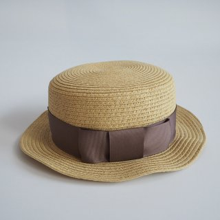 <img class='new_mark_img1' src='//img.shop-pro.jp/img/new/icons14.gif' style='border:none;display:inline;margin:0px;padding:0px;width:auto;' />paper braid kankan hat  / gray beige / chocolatesoup