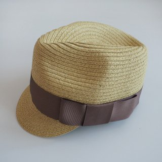 <img class='new_mark_img1' src='https://img.shop-pro.jp/img/new/icons20.gif' style='border:none;display:inline;margin:0px;padding:0px;width:auto;' />【30%off】 paper braid jocky hat  / gray beige / chocolatesoup