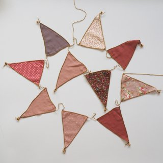 bunting garland fabric / mix pink / Numero74
