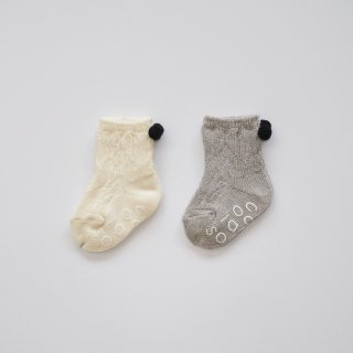 <img class='new_mark_img1' src='https://img.shop-pro.jp/img/new/icons20.gif' style='border:none;display:inline;margin:0px;padding:0px;width:auto;' />【30%off】 organic cotton sox / off white・gray / chocolatesoup