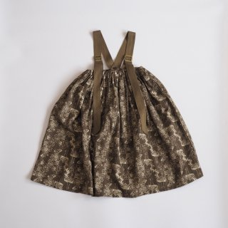 ALfaFolk emblem print skirt / brown / eLfinFolk (90,110,130)