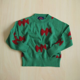 raven kids sweater / green / The Animals Observatory