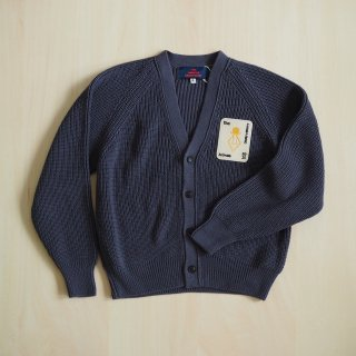 plain racoon kids cardigan / navy blue / The Animals Observatory
