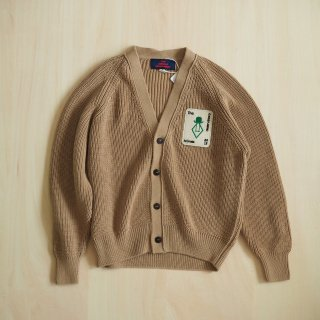 plain racoon kids cardigan / deep brown / The Animals Obserbatory