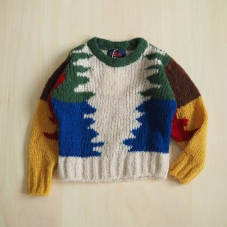 blowfish kids sweater / multi white / The Animals Observatory