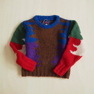 The Animals Observatory<br>blowfish kids sweater<br>multi brown(6y,8y,10y)