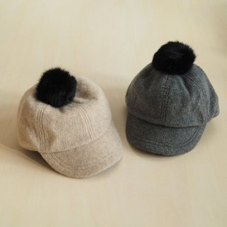 chocolatesoup<br>fleece pompom cap(S,M)