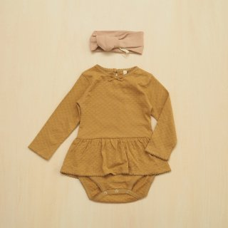 pointelle skirted onesie / honey / QUINCY MAE (6-12m,12-18m)