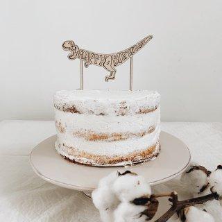 carpe diem<br>dinosaur cake topper