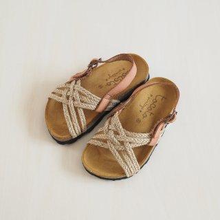 tocoto vintage<br>jute bio sandals<br>brown<br>(23,24,25,26,27,28)