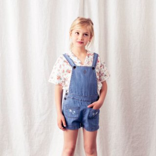 <img class='new_mark_img1' src='https://img.shop-pro.jp/img/new/icons14.gif' style='border:none;display:inline;margin:0px;padding:0px;width:auto;' />tocoto vintage<br>denim short overall with embroidery<br>blue (2y,3y,4y,6y)