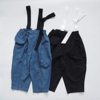 〈8月下旬入荷予約〉folkmade<br>suspenders pants<br>blue / black<br>(S,M,L,LL)