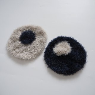 folkmade<br>beret<br>gray / navy<br>(50-52cm,54-56cm)