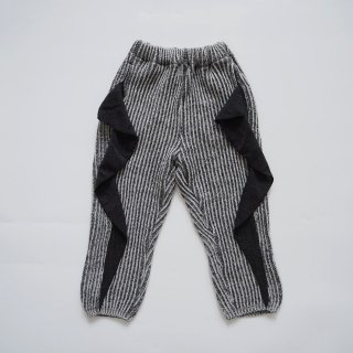 folkmade<br>frilled rib stitch pants<br>charcoal gray<br>(S,M,L,LL)