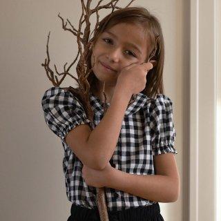 minimom<br>mallow blouse<br>black gingham<br>(3-4y,5-6y,7-8y)