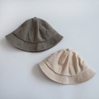 chocolatesoup<br>soft pile hat<br>beige / gray (46-48cm)