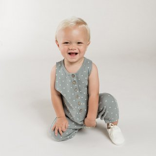 QUINCY MAE Drop1<br>sleeveless jumpsuit<br>ocean(6-12m,12-18m)