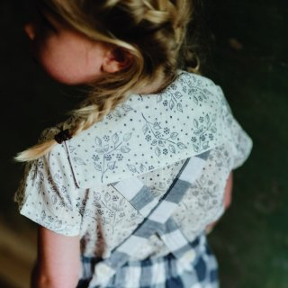 little cotton clothes<br>short sleeve sidone blouse<br>(18-24m,2-3y,3-4y,4-5y,5-6y)