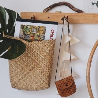 Olli Ella<br>hanging book basket<br>natural