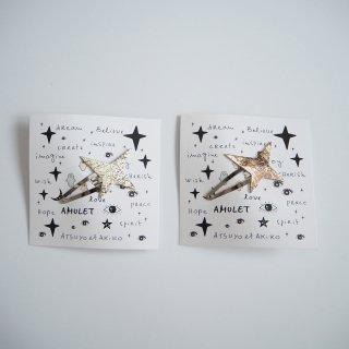 ATSUYO ET AKiKO<br>amulet star hiar pin<br>distress