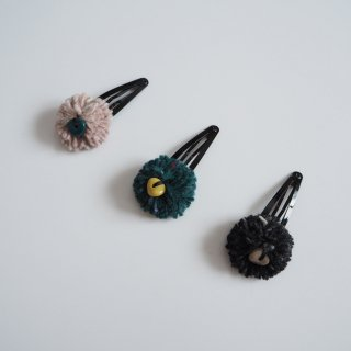 eLfinFolk<br>wild flower hair pin<br>pink / green / black