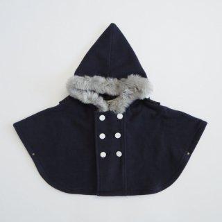 《送料無料》<br>eLfinFolk<br>freece baby cape<br>navy(free:80-100)