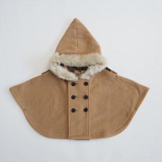 《送料無料》<br>eLfinFolk<br>freece baby cape<br>beige(free:80-100)