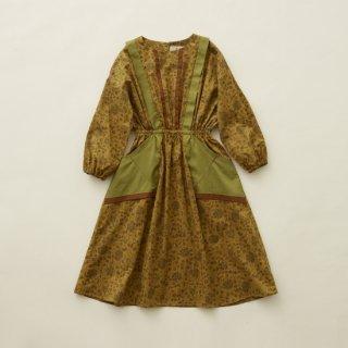 《送料無料》eLfinFolk<br>wild flower dress<br>mustard(110,120,130)