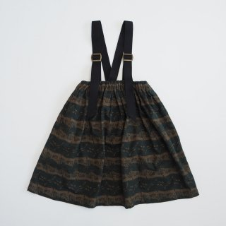 eLfinFolk<br>castle printed skirt<br>dark green(90,110,130)