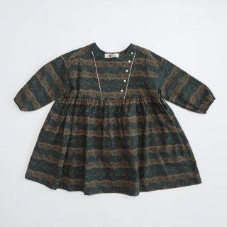 eLfinFolk<br>castle printed dress<br>dark green(90,100,110,120,130)