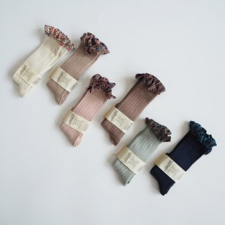 Collegien<br>elisabeth<br>liberty ruffle high socks<br>6colors<br>(18/20,21/23,24/27,28/31)