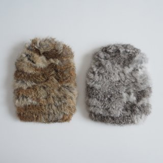nunuforme<br>knit hat<br>brown / gray(one size)