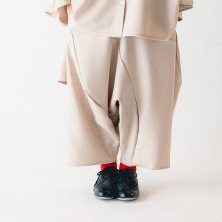nunuforme<br>drape saruel pants<br>beige(95,105,115,125)