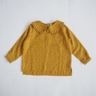 "TINYCOTTONS<br>""TINY DOTS"" shirt<br>mustard(2y,4y,6y)"
